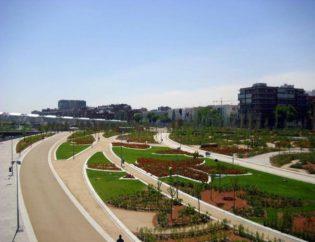 Ejecución de los Jardines Puente Toledo, Zona Norte de Madrid-Río